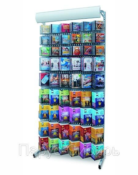 Торговое оборудование для продажи CD, DVD, книг, журналов, канцтоваров.