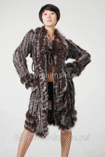 вязаные норковые пальто