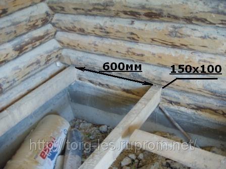 Черновой пол в деревянном доме с фото