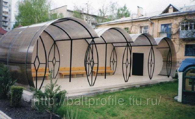 Арочные теплицы из поликарбоната
