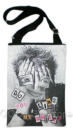 Текстильная сумка с принтом.