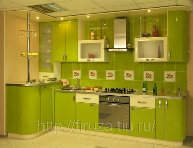 Кухни салатовая мебель интерьер кухни