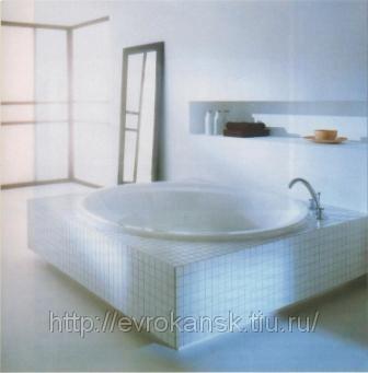 Ванна круглая 1750*17500 мм с ножками и сливом-переливом.  Артикул.