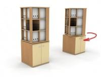 """""""Стеллаж Т400/В """".  Ваша корзина пуста.  Мебель для офиса."""