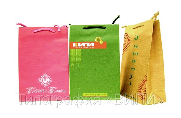 Бумажные пакеты с Вашим логотипом из имитлина, дизайнерского или...
