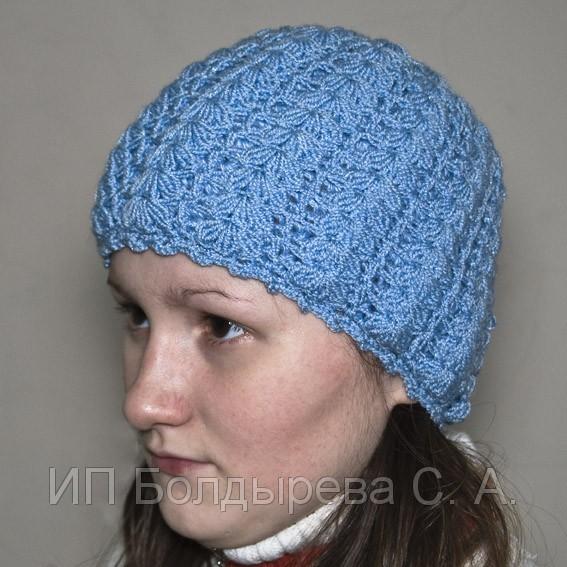 Вязанная женская шапка со схемой и описанием 09/23/2012.
